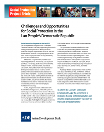 Challenges and Opportunities for Social Protection in the Lao People's Democratic Republic