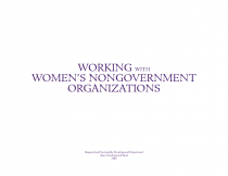 Working with Women's Nongovernment Organizations