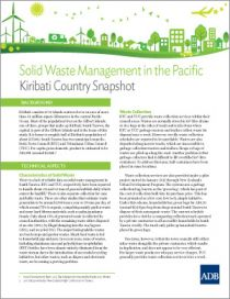 Solid Waste Management in the Pacific: Kiribati Country Snapshot