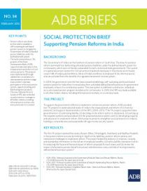 Social Protection Brief: Supporting Pension Reforms in India