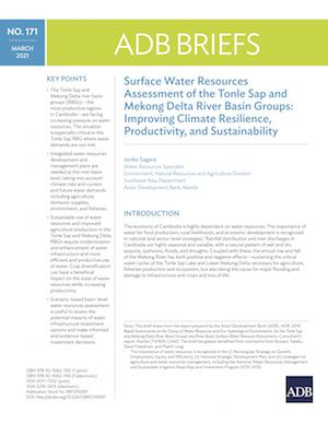Surface Water Resources Assessment of the Tonle Sap and Mekong Delta River Basin Groups: Improving Climate Resilience, Productivity, and Sustainability