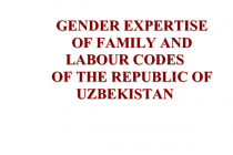 Gender Expertise of Family and Labour Codes of the Republic of Uzbekistan