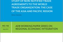 Study of Non-Notified Trade Agreements to the World Trade Organization: The Case of Asia and the Pacific Region