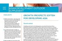 Asian Development Outlook 2015 Supplement: Growth Prospects Soften for Developing Asia