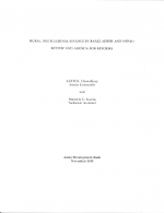 Rural Institutional Finance in Bangladesh and Nepal: Review and Agenda for Reforms