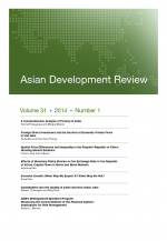 Asian Development Review: Volume 31, Number 1
