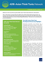 ADB-Asian Think Tank Network eNewsletter Issue 2
