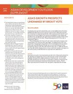 Asian Development Outlook (ADO) 2016 Supplement: Asia's Growth Prospects Undimmed by Brexit Vote