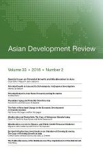 Asian Development Review: Volume 33, Number 2