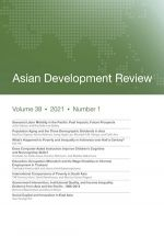 Asian Development Review: Volume 38, Number 1